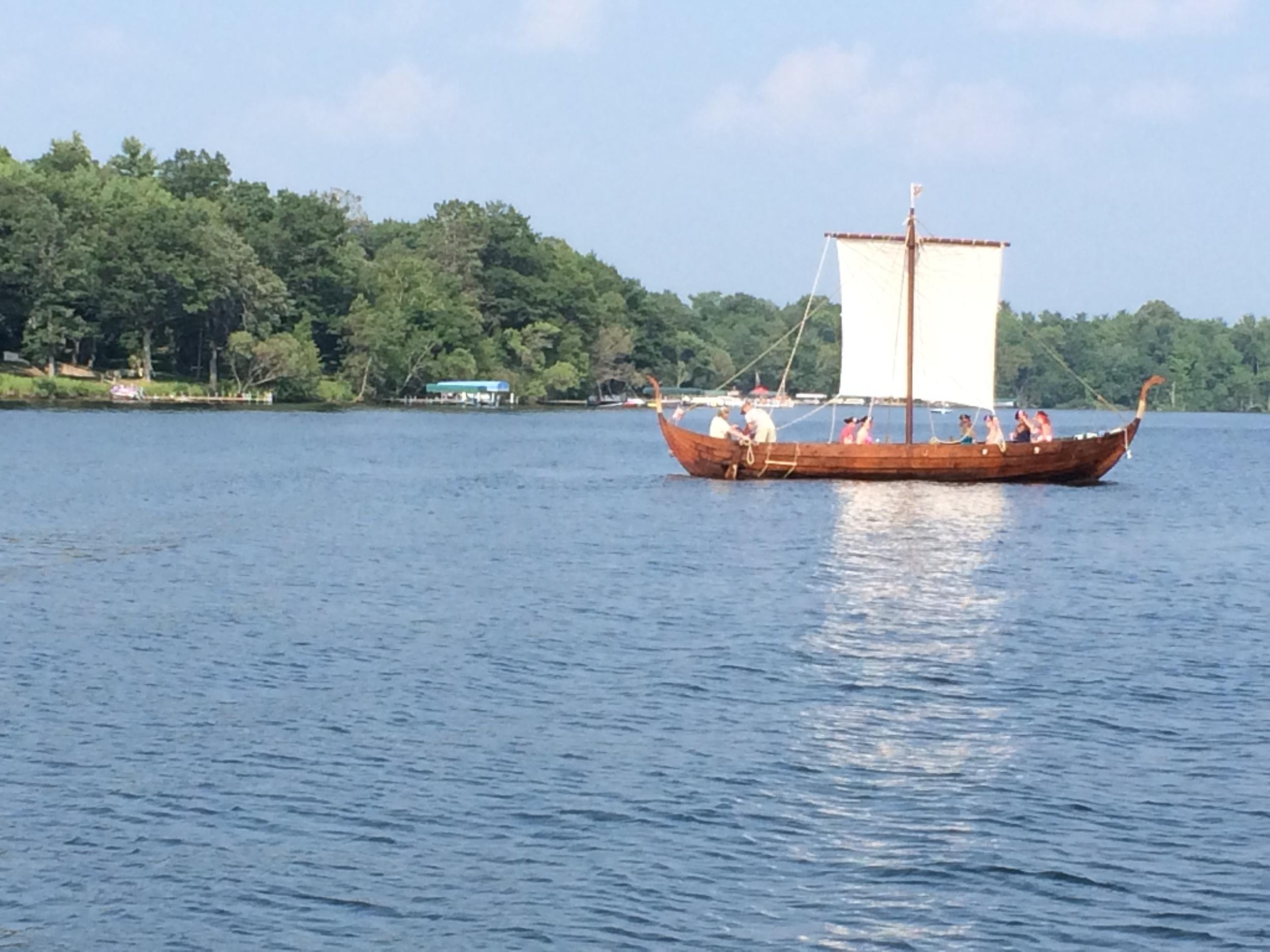 Viking ship on Bay Lake...