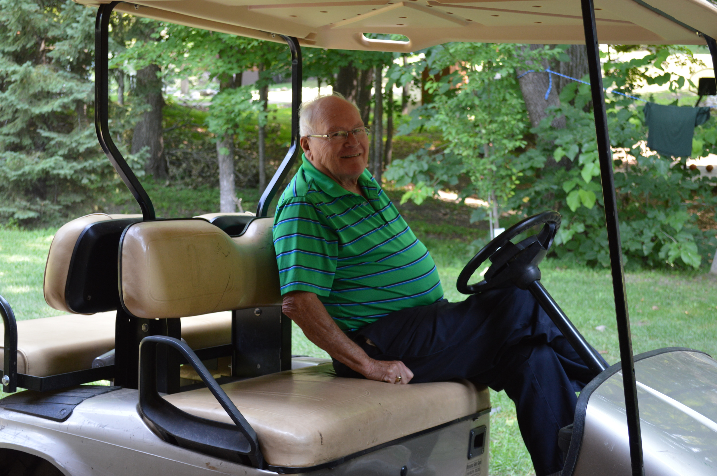 Uncle Ron...the best golf cart transporter!