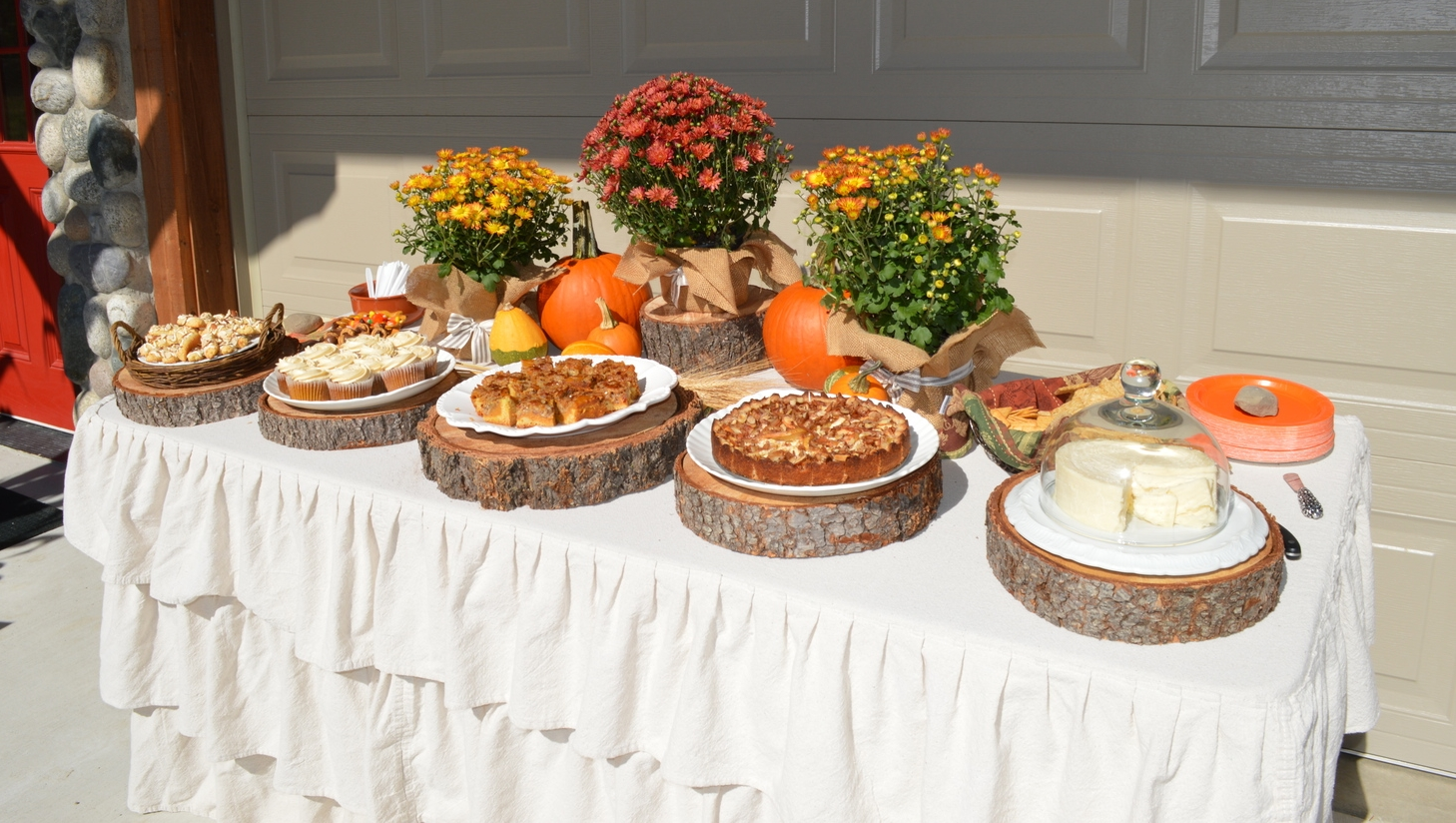 Mostly desserts, with a round of Cougar Gold cheese...