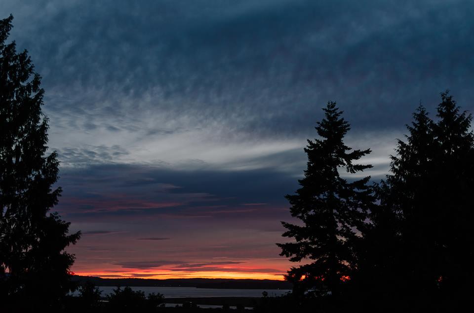 Sunset at Warm Beach...(Ruth Gunderson photo)