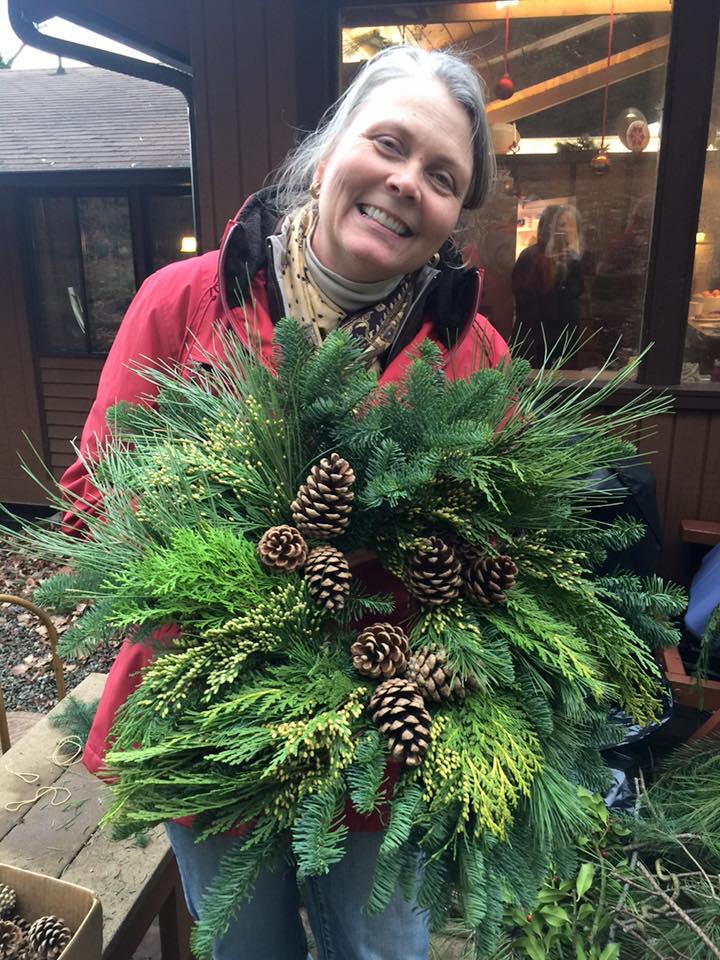 Linda's lovely wreath...