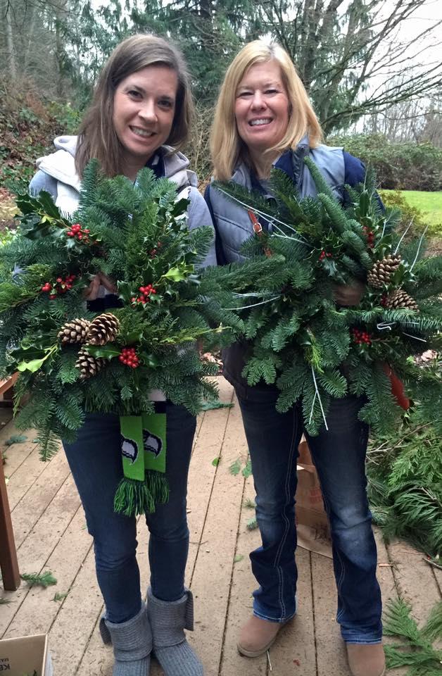 Kristen and Karen's beautiful wreaths...