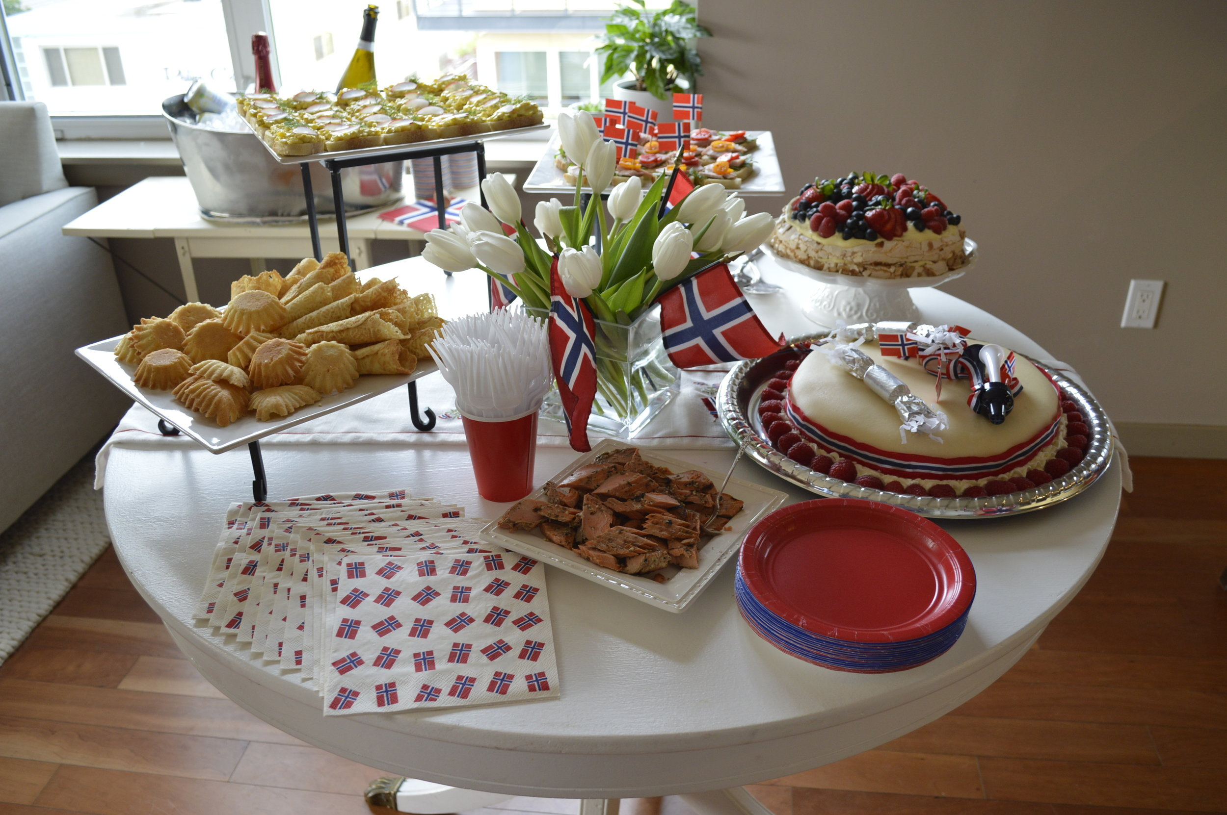 From Rachel's  Syttende mai party ...