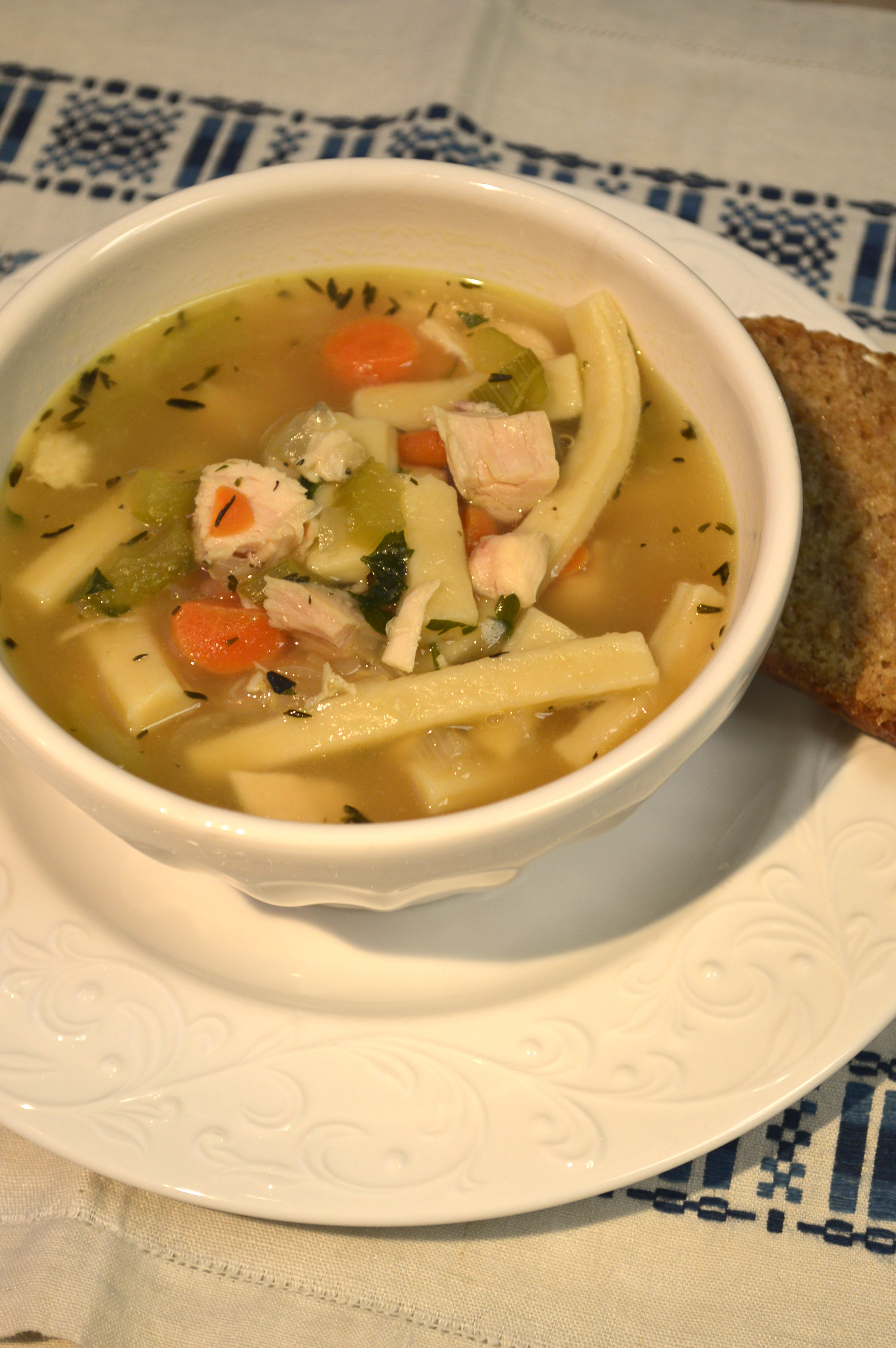 Homemade chicken noodle soup  recipe here...