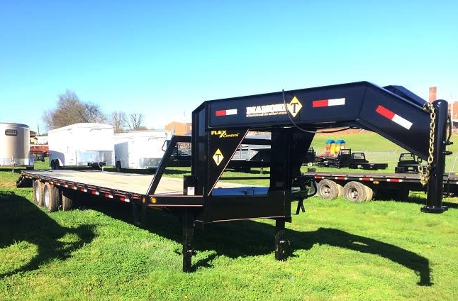 """25' x 102""""Flatbed with 10K Axles and Pop-up Dove Tail"""