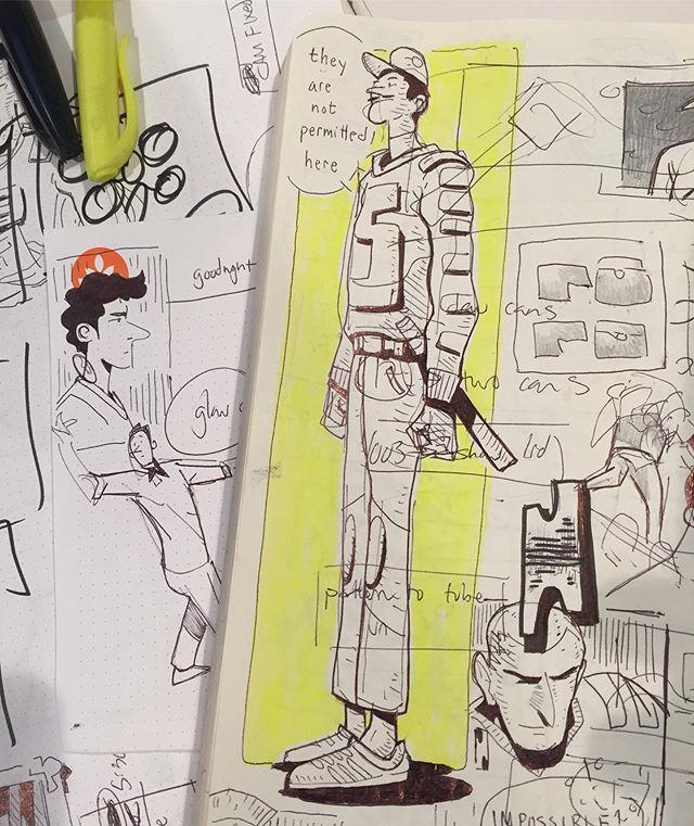 Doodling at work- don't fire me! 🙇🏼♂️ #doodle #sketch #sketch #drawing #illustration #sketchbook #art #instaart #comics
