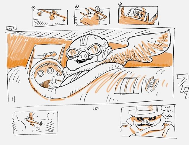 Took a break from social media this summer. I'll be sharing some new work from a couple of projects soon. Here are some sketches in storyboard pro while I was making new brushes. #storyboard #storyboardpro #porcorosso #comics #drawing