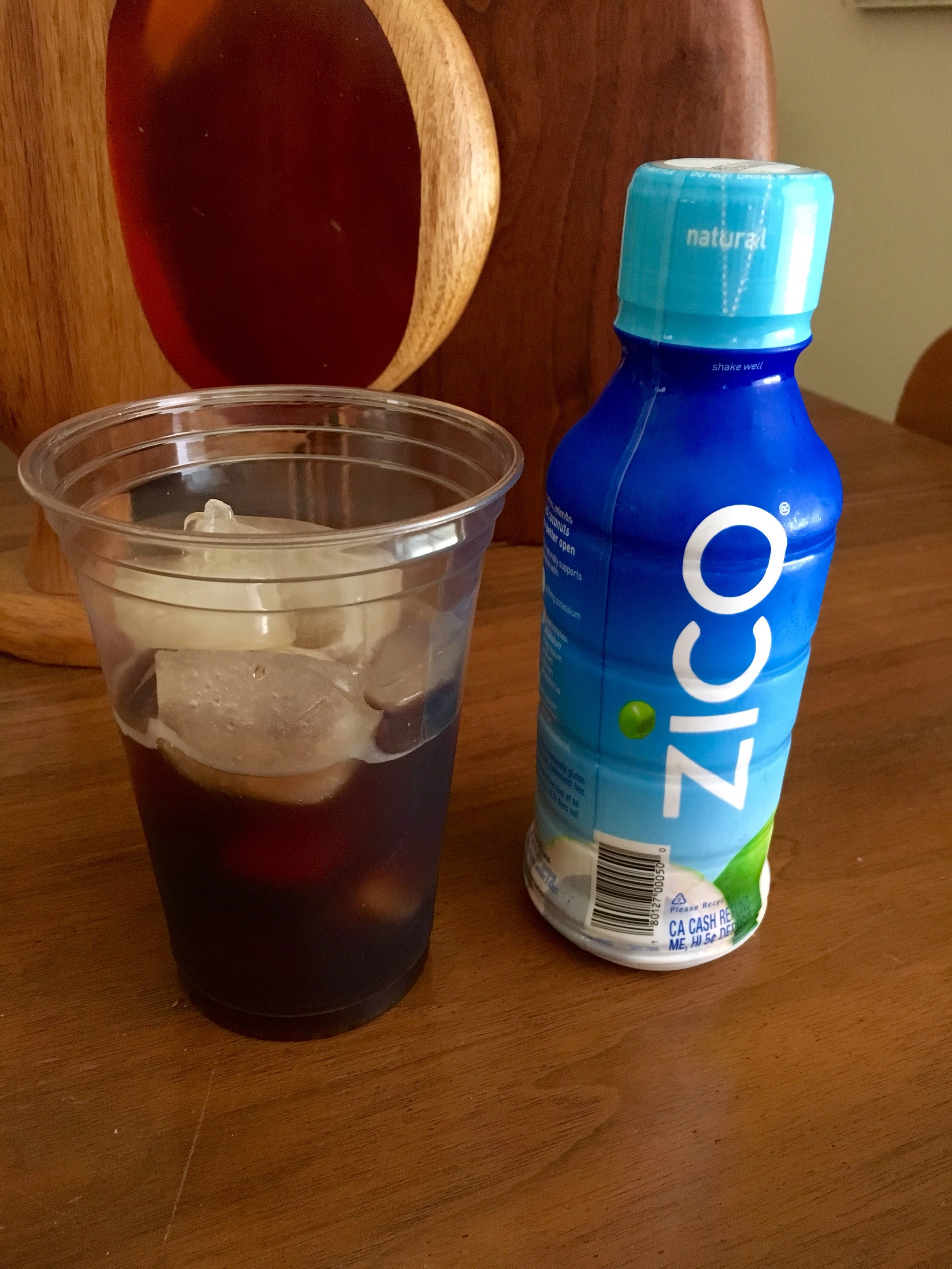 1/2 Cold Brew and 1/2 Coconut Water