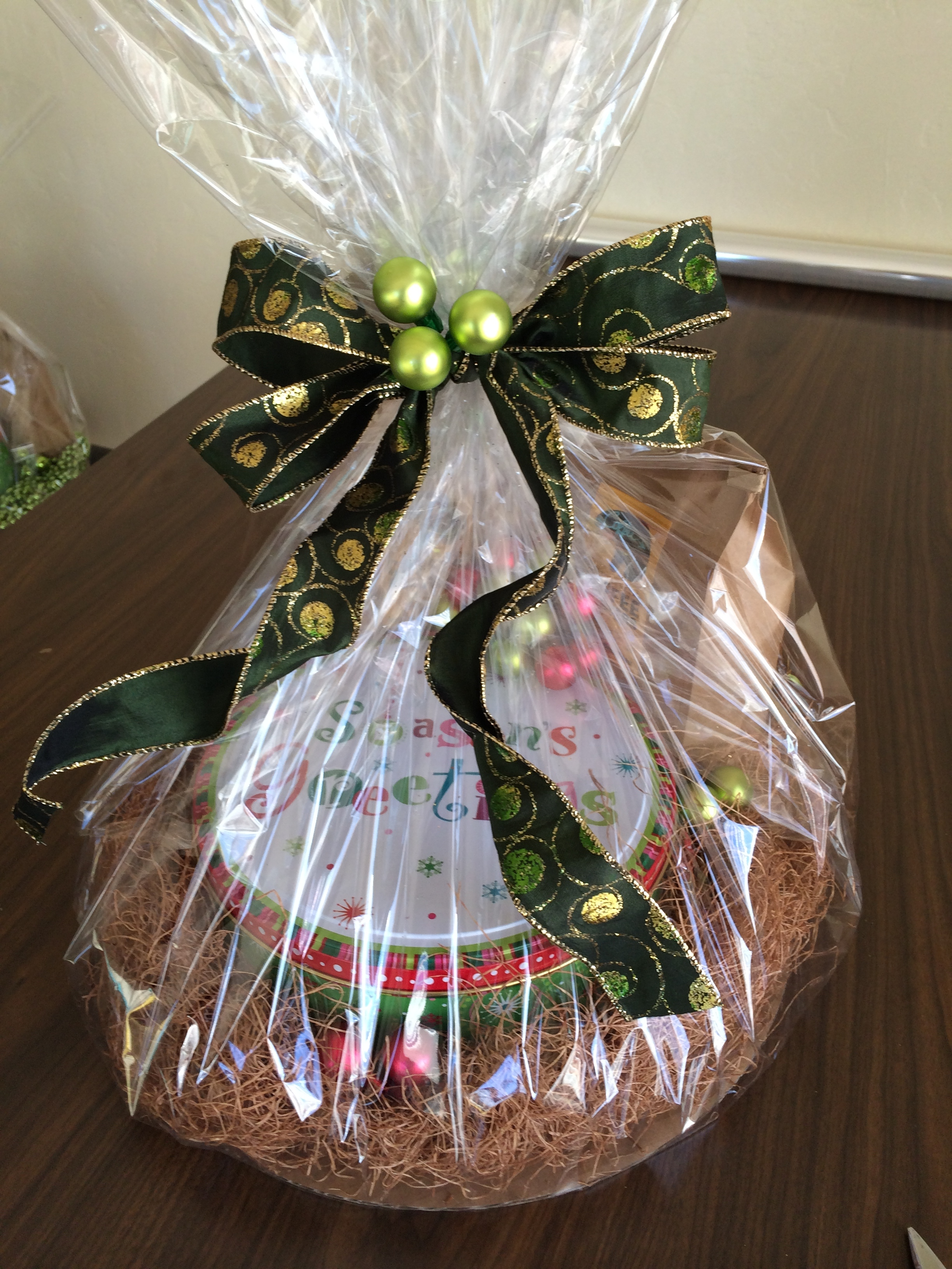 Holiday baskets thanking clients for their business