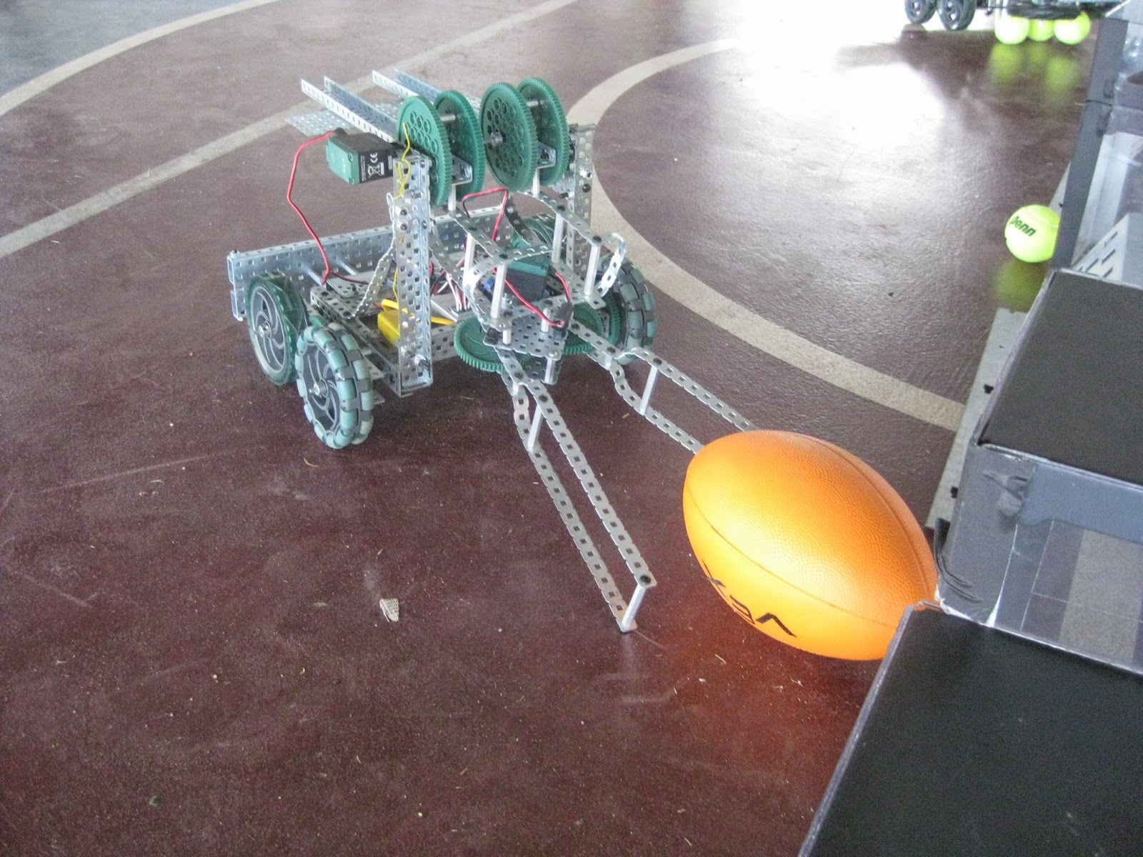 Specialized robots were created and perfected by students over the course of the school year