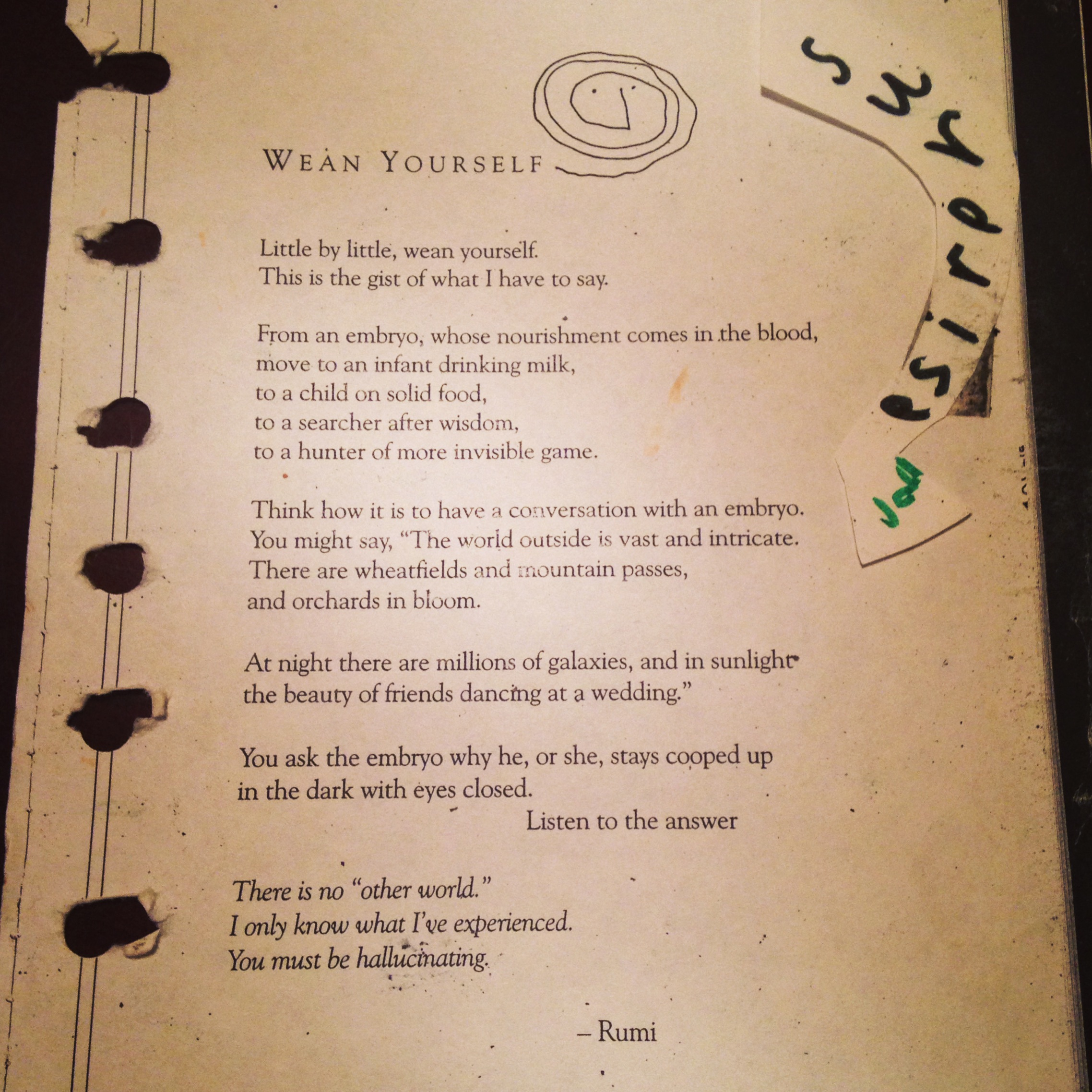 I carried this poem in my planner for years.