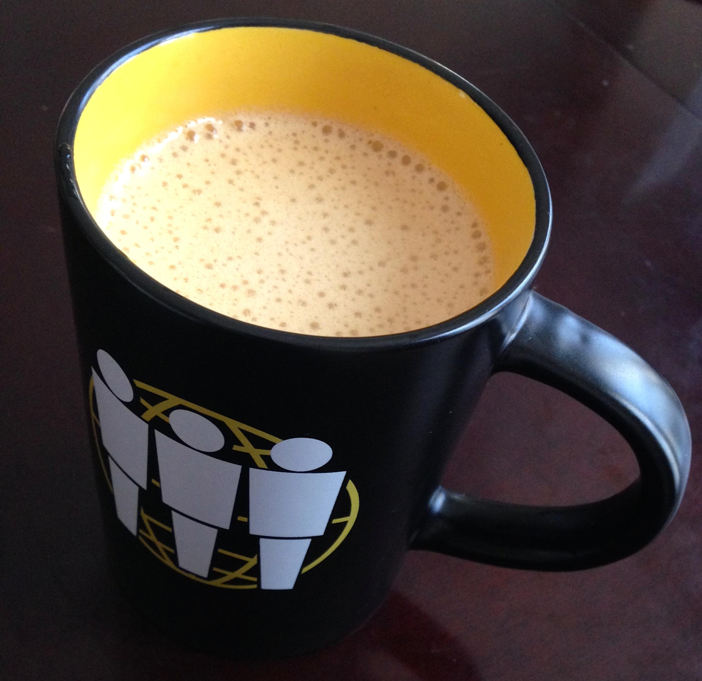 Ahh.... that's good coffee.