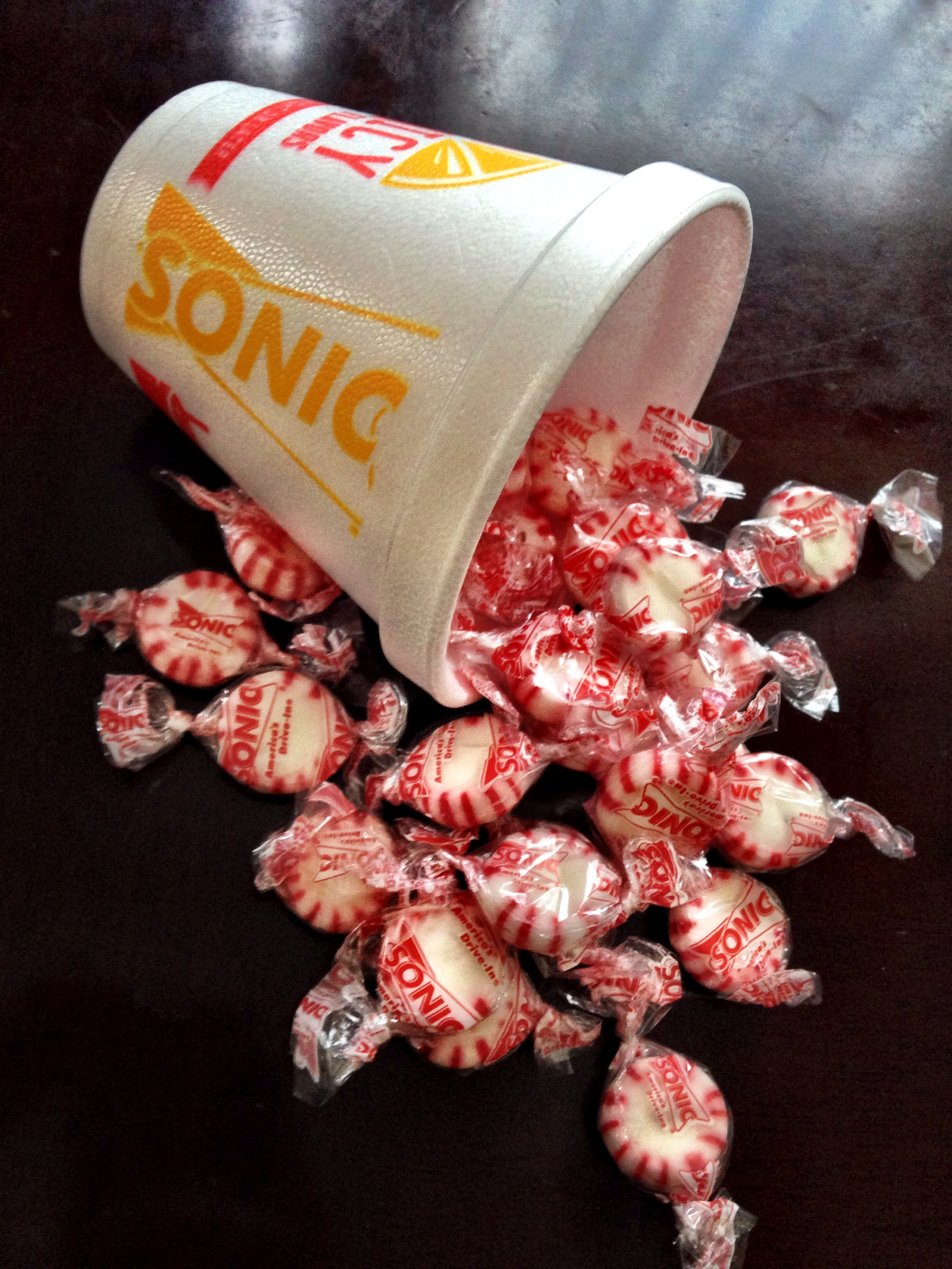 Thanks for the extra mints. I LOVE sonic!