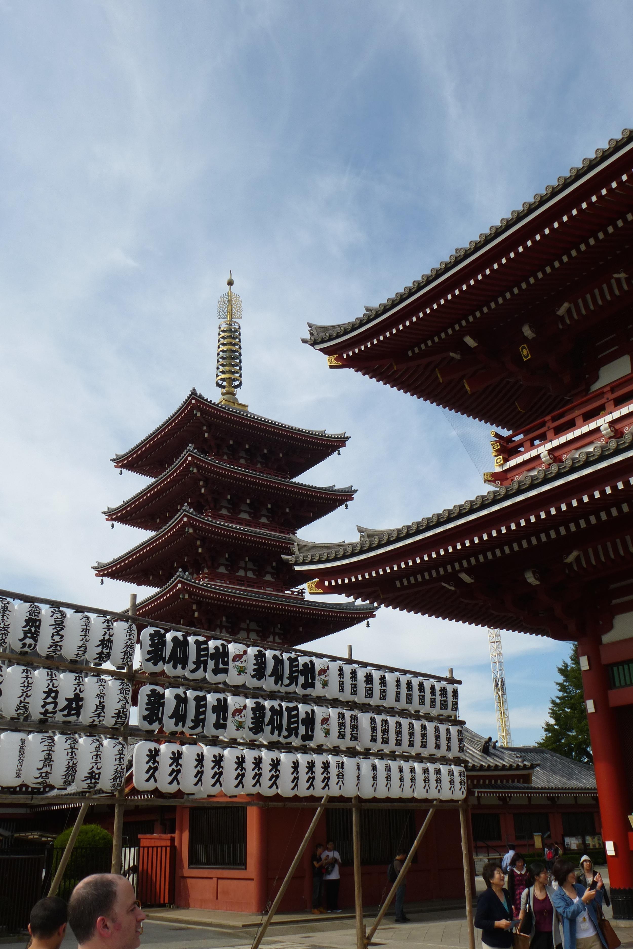 The pagoda at Asakusa