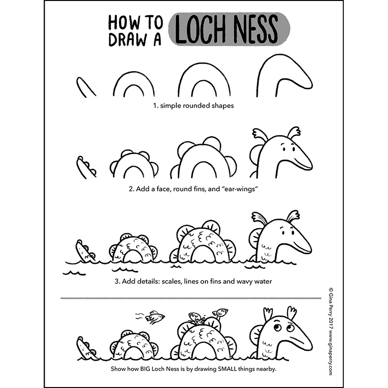HOW-TO-DRAW: Loch Ness
