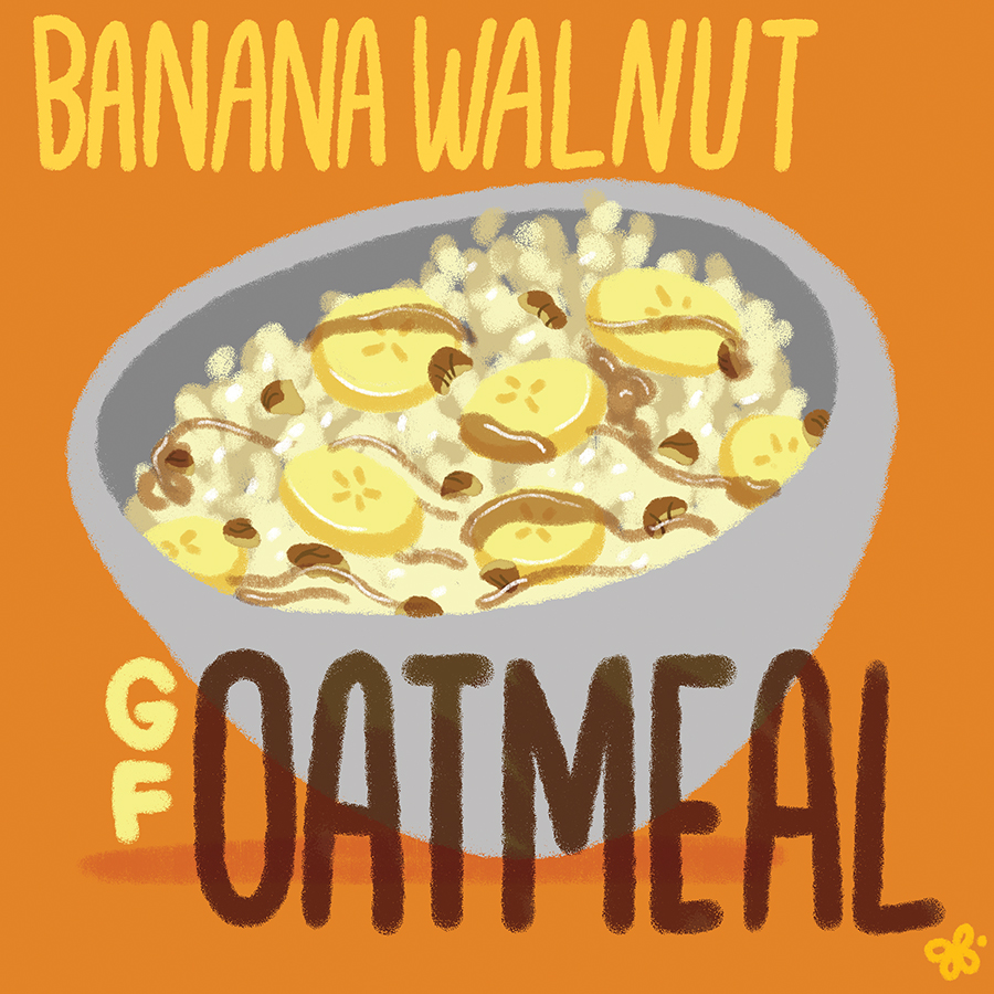 Banana Walnut GF Oatmeal