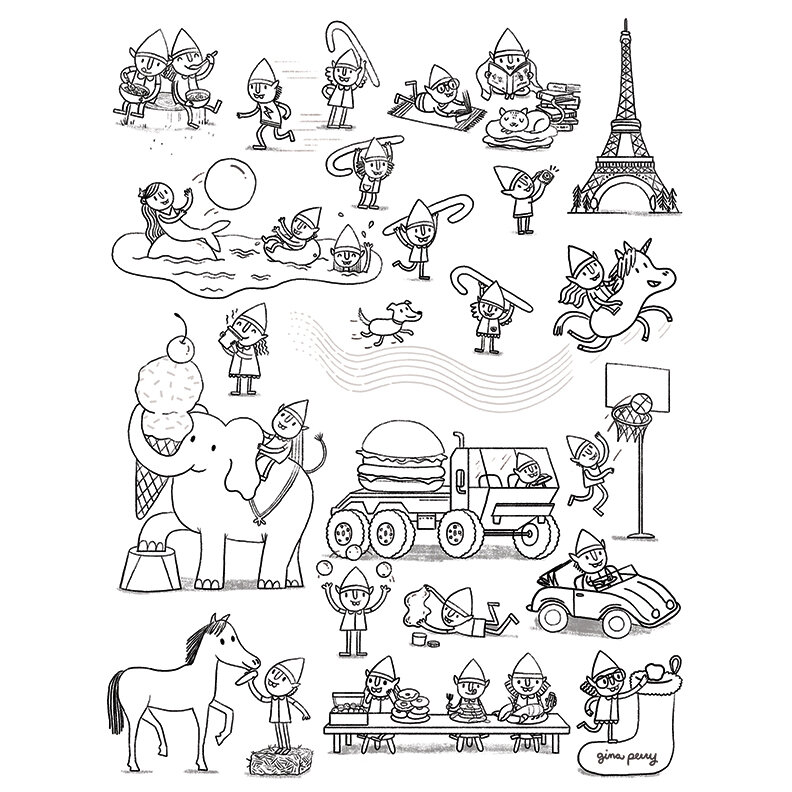 Coloring Pages Clipart Digital Papers DIY by JuliaSpiri on Etsy | 792x792