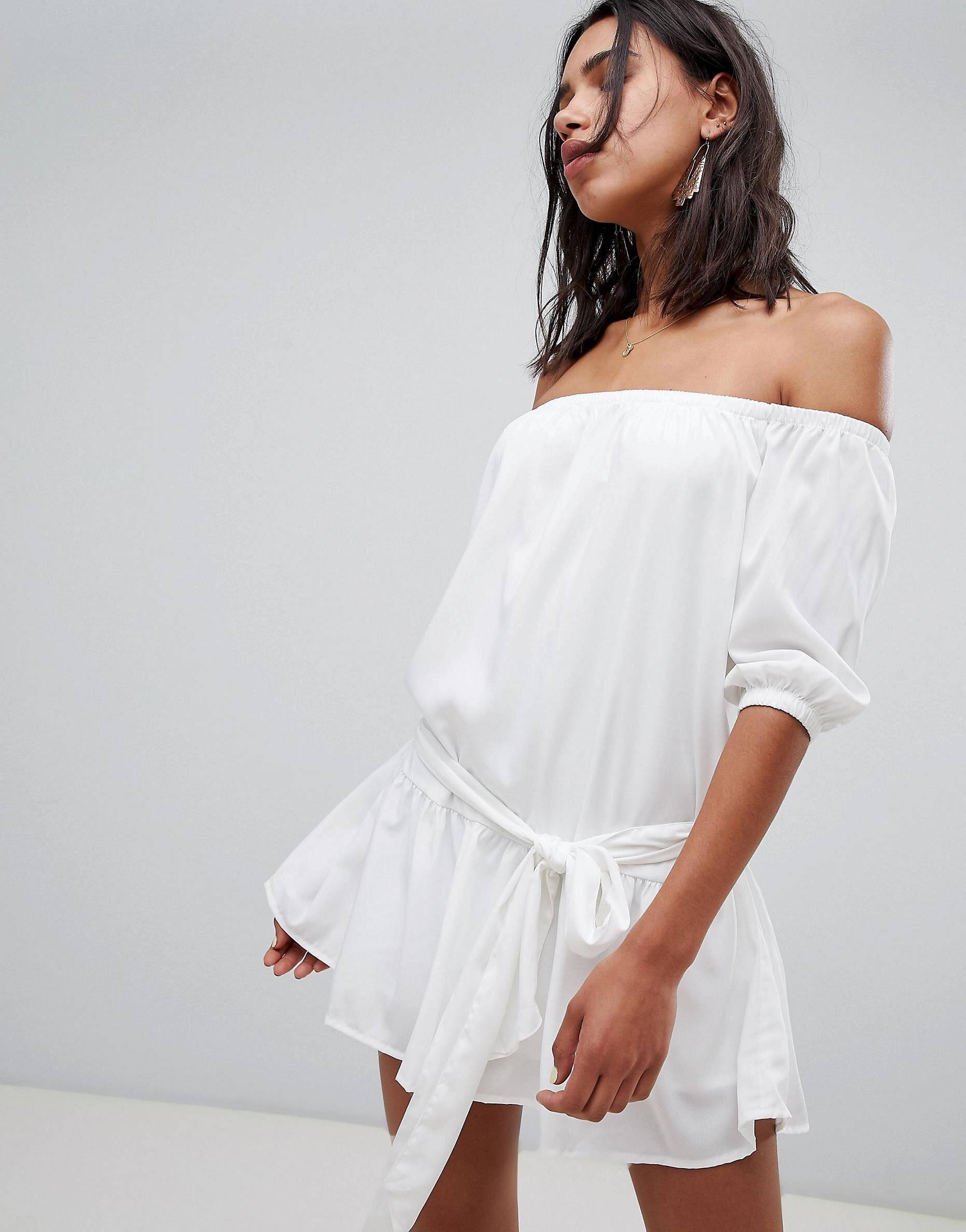 Off the shoulder dress, Vero Moda, $39.  Find it  here .
