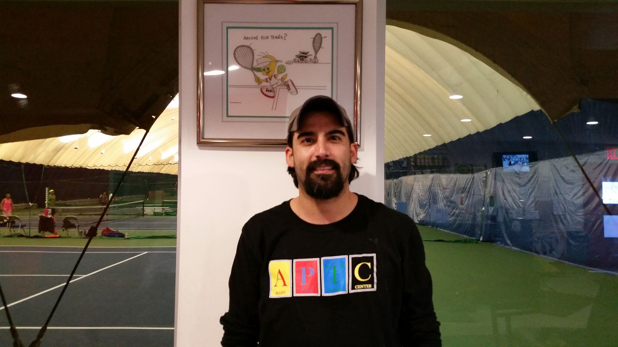 Jason Vinoles, APTC Teaching Staff :  Jason is a new addition to our staff here at  Alley Pond Tennis Center . He joined our staff in March 2016. Jason is a certified PTR Teaching Professional who speaks English and fluent Spanish. He graduated from Boston University Class of 2003 and was captain of the Boston University Men's Tennis Team. Jason is originally from New York (Long Island) and as a junior trained at Port Washington Tennis Academy. We welcome Jason to our team at APTC and in a short time he is one of our most popular coaches.