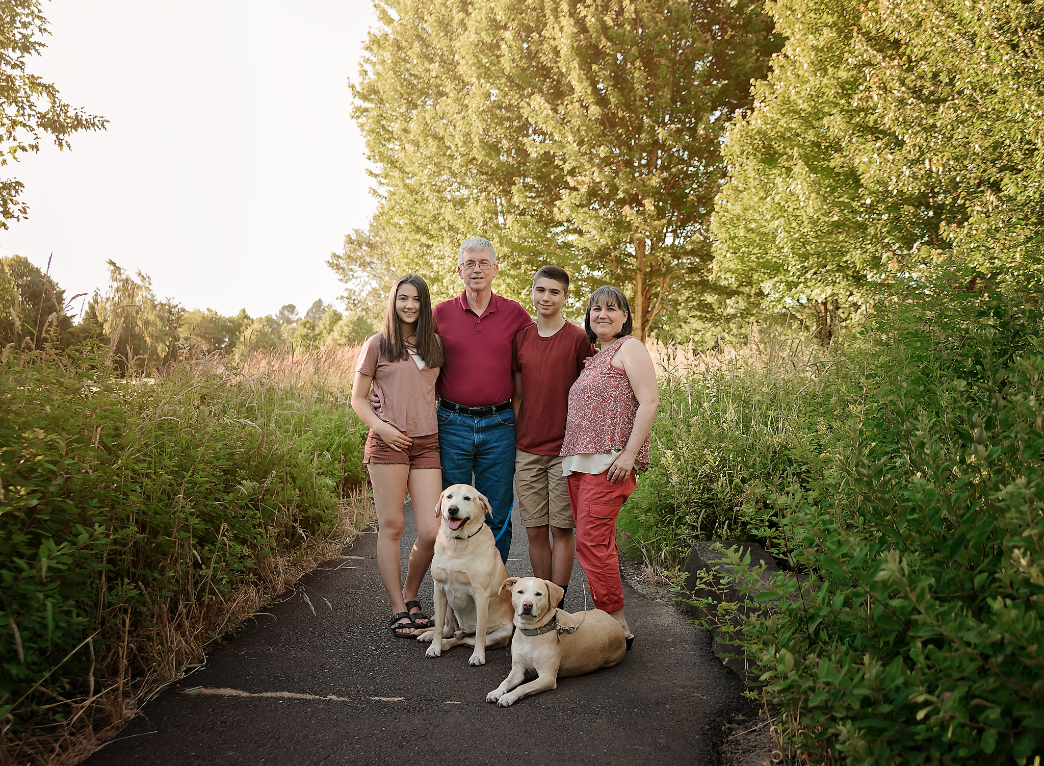 Family with Pets Portrait