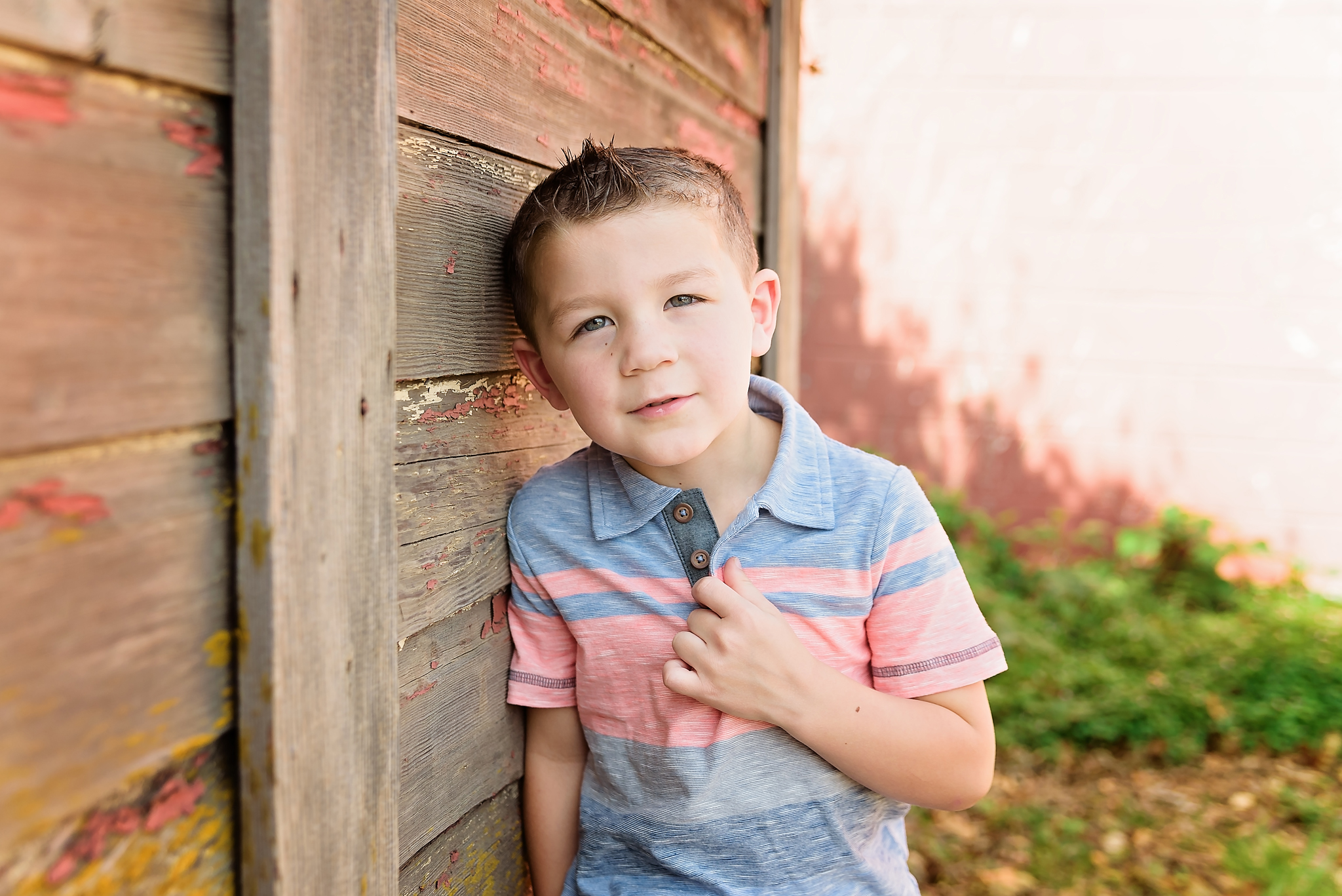 Birthday boy portrait