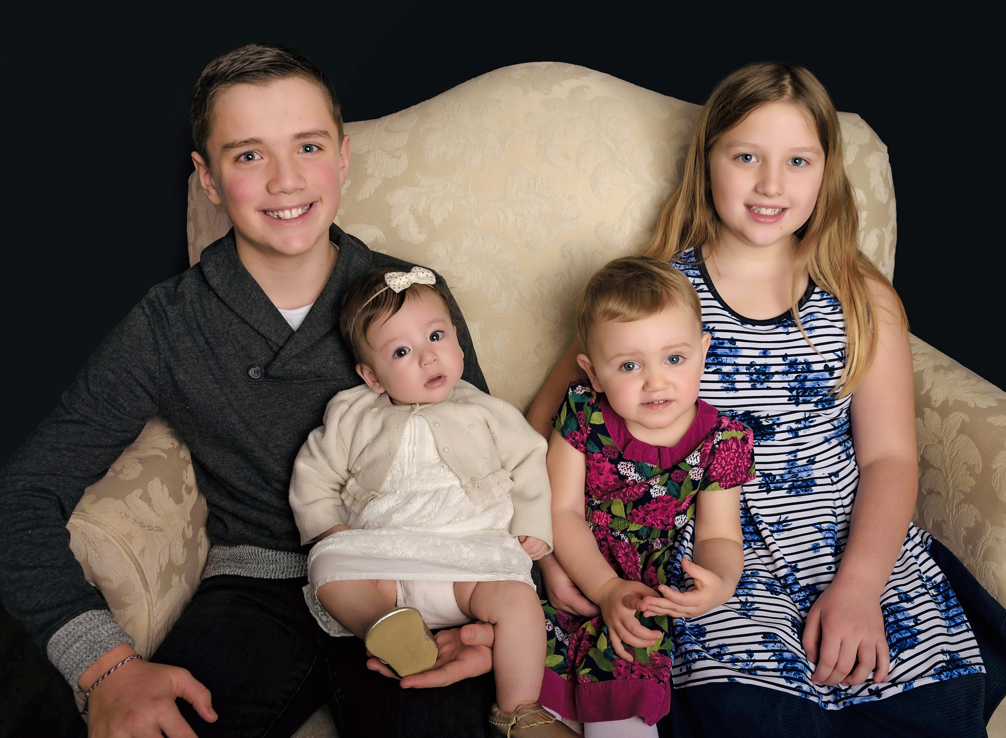 Grandchildren studio portrait