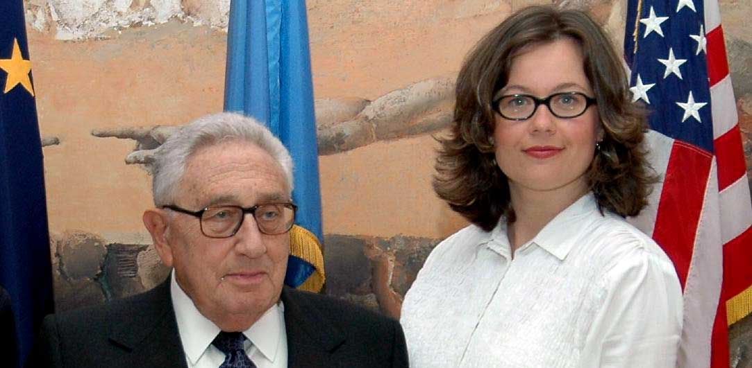 With Dr. Henry Kissinger after our interview. He promised me 20 minutes and he delivered!