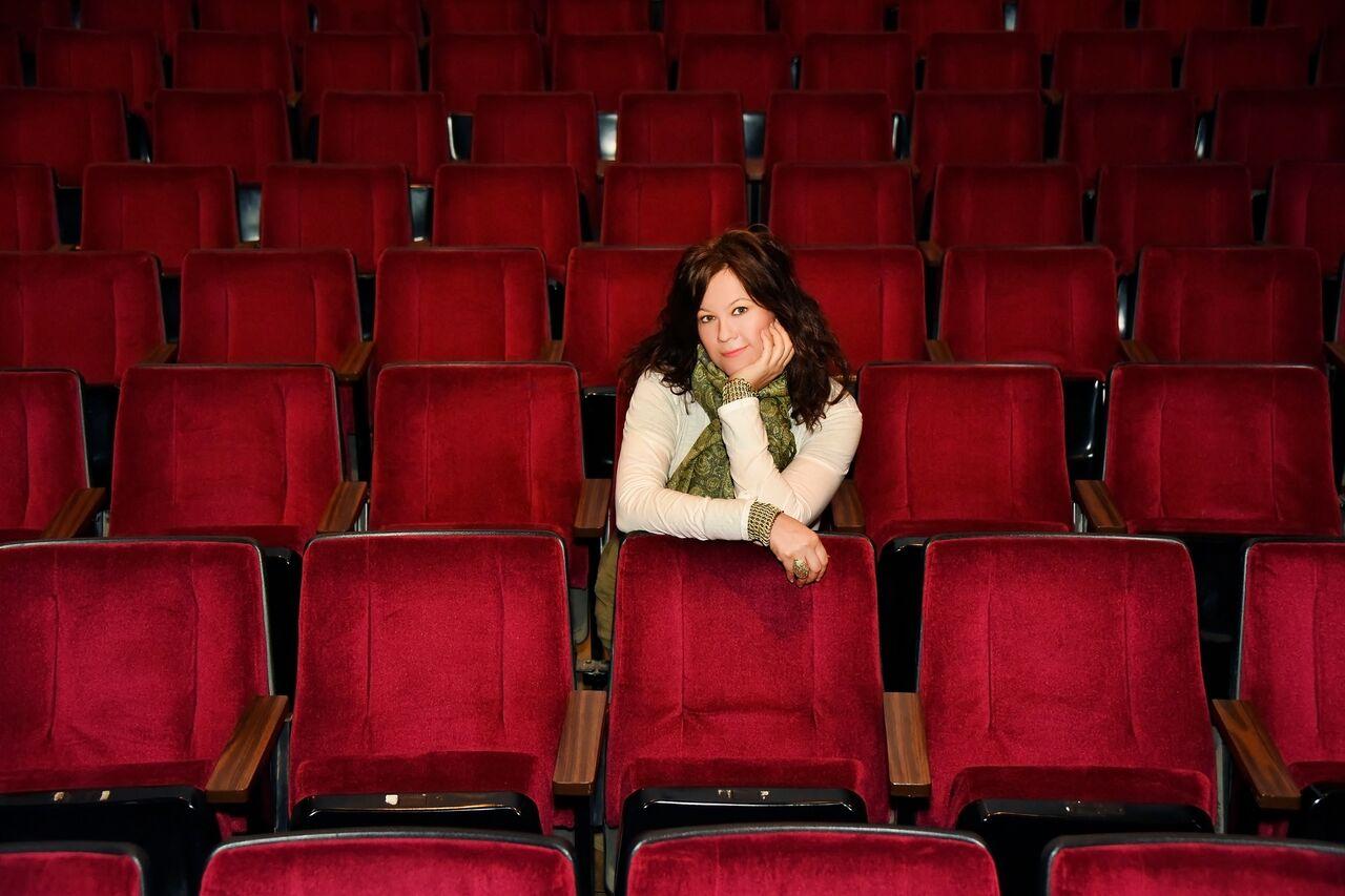 At the theater (Photo: Richard Michael Johnson)