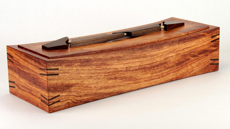 bubinga & walnut dagger box