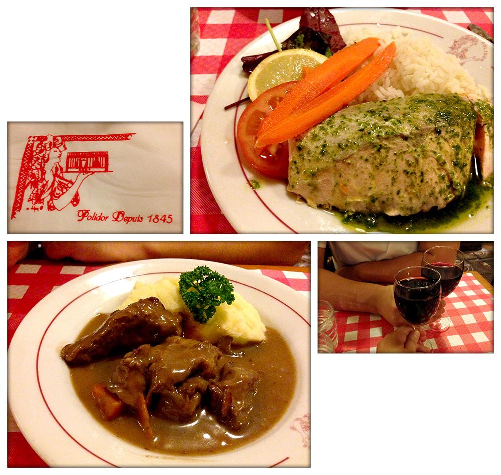 Polidor Restaurant | Salmon with Basil Oil | Bouef Bourguignon