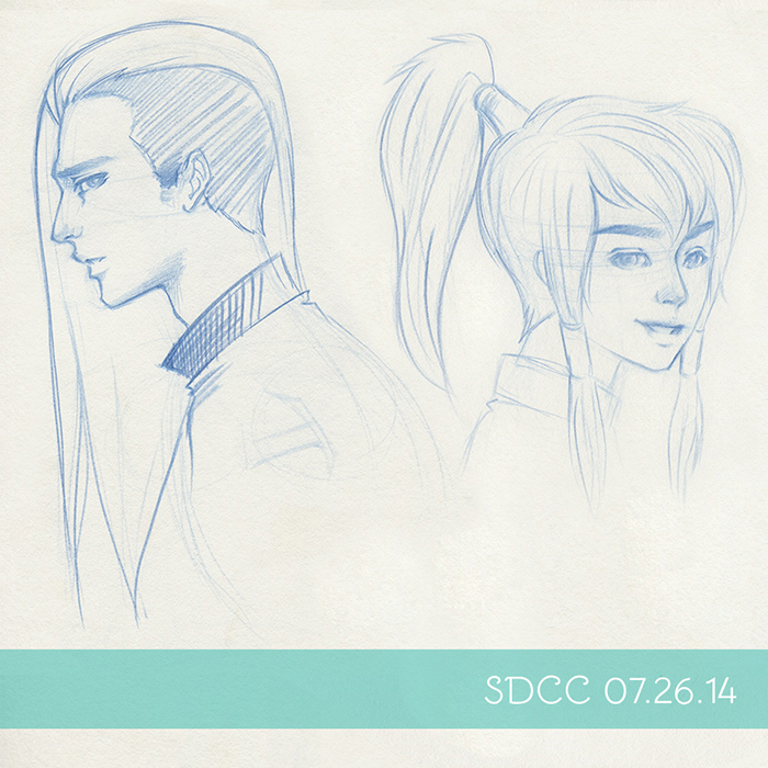 Day 3!  Random shaved-head guy!  And just kidding Korra!  I don't know why I can't draw a decent picture of her...