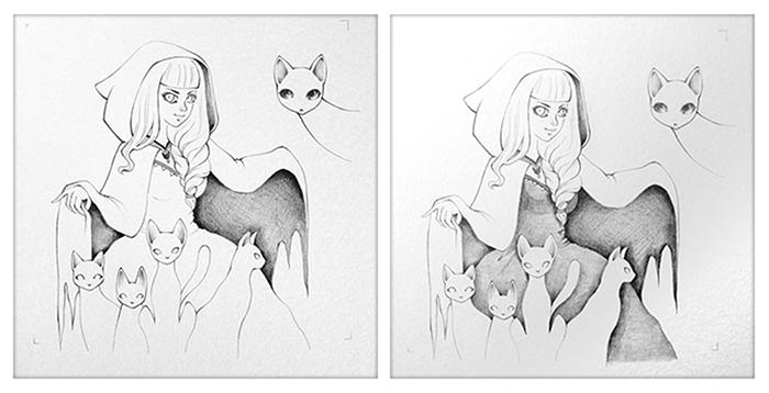Work in Progress - graphite on watercolor paper