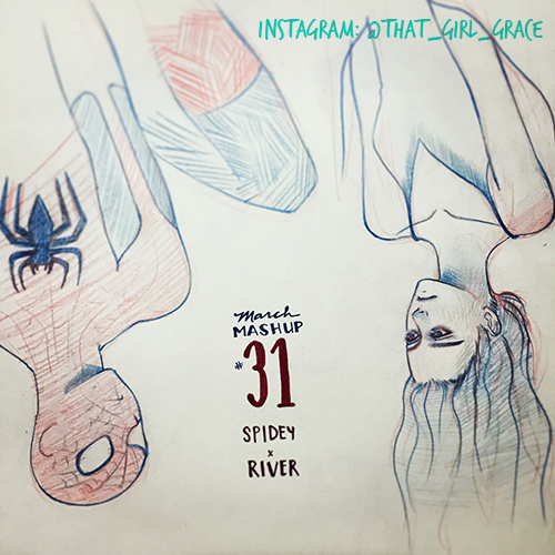 March Mashup Day 31 River Tam (Firefly) x Phil Spiderman...
