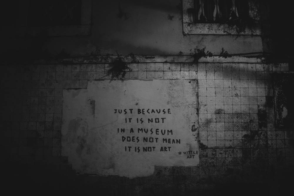 Just below this sentence (low left) there was an amazing stencil of a french street artist. Some days ago someone cleaned it. This sentence is dedicated to the people who did it...  Wittle Art