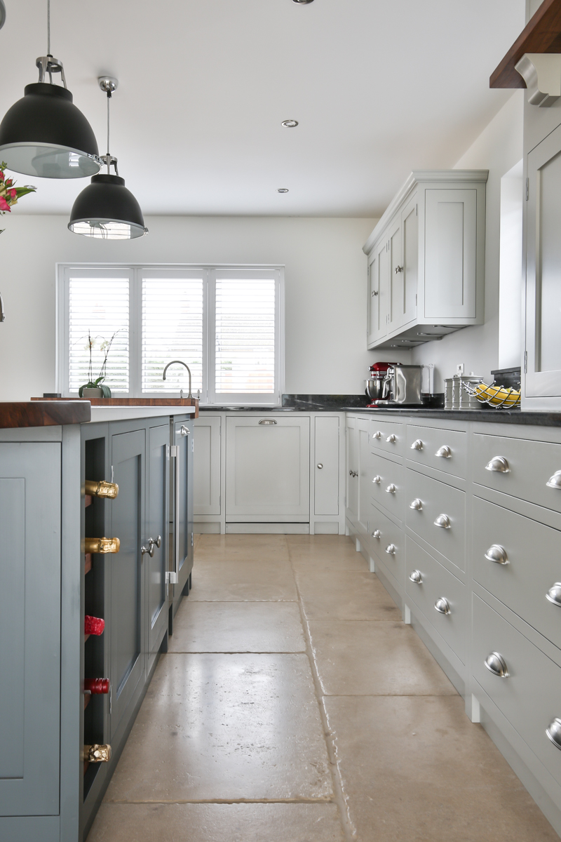 Evie Willow Cotswold kitchen cabinets