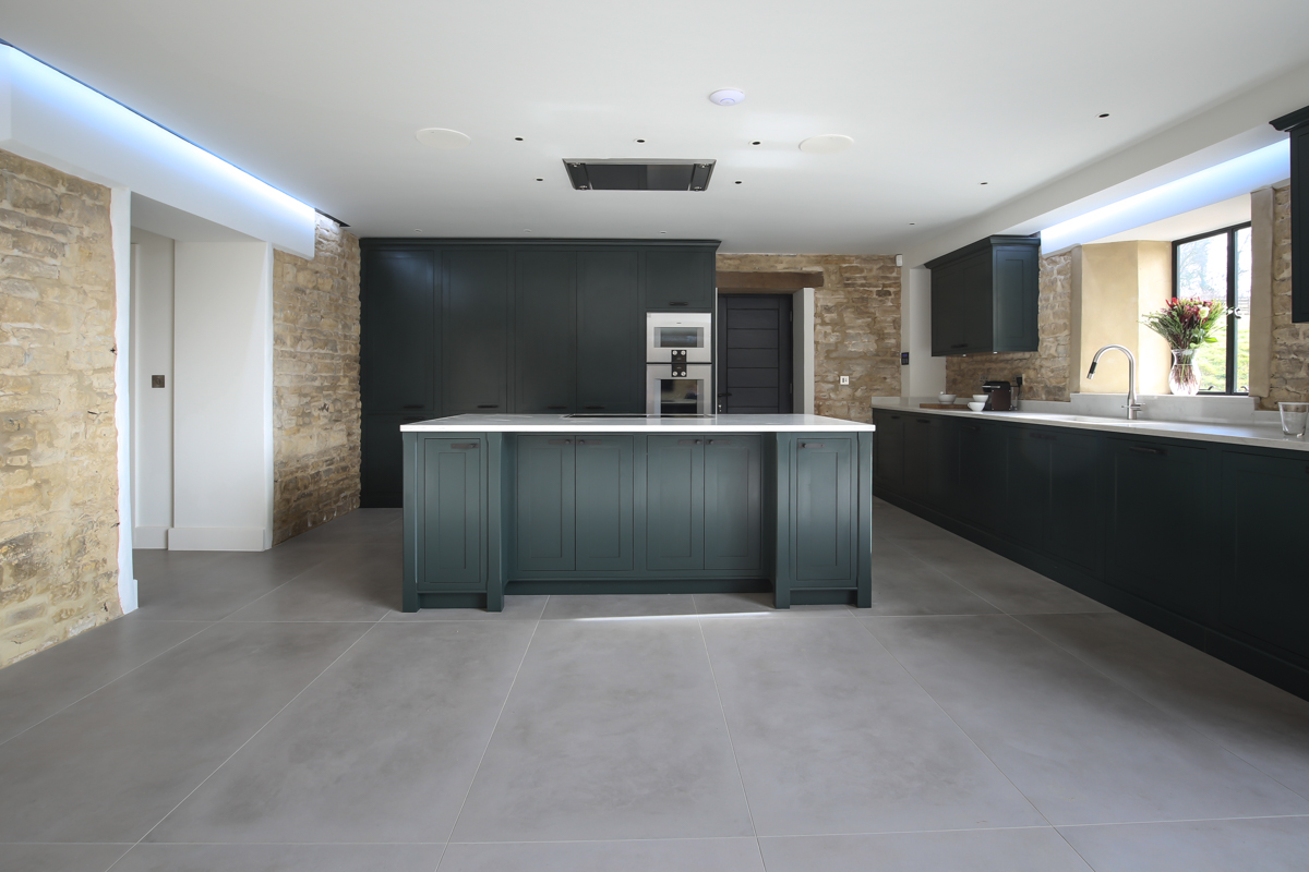Kitchen photography of Cotswold barn conversion kitchen