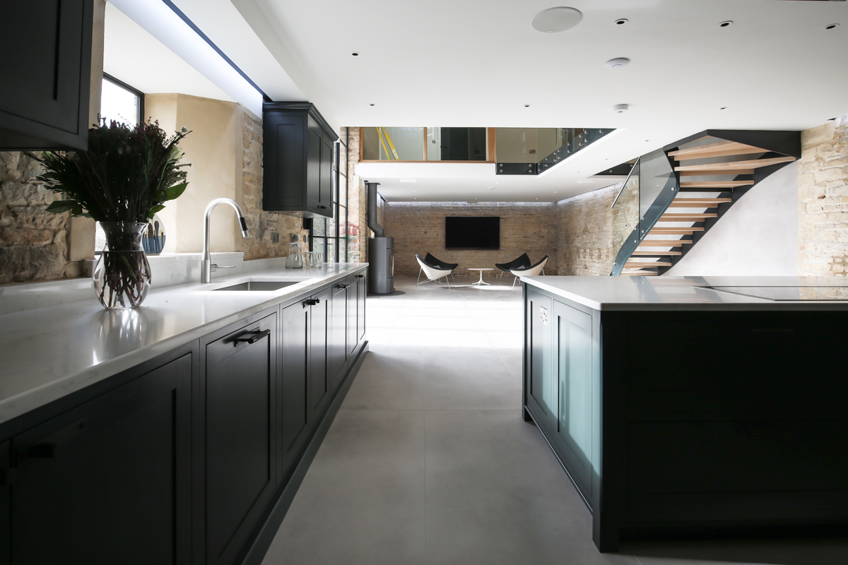 Kitchen photography in Cotswold barn conversion close to Soho Farmhouse