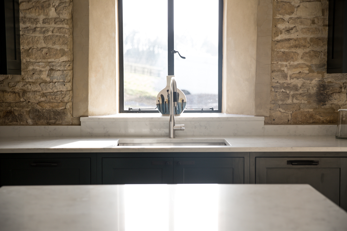 Kitchen sink in Cotswold barn conversion
