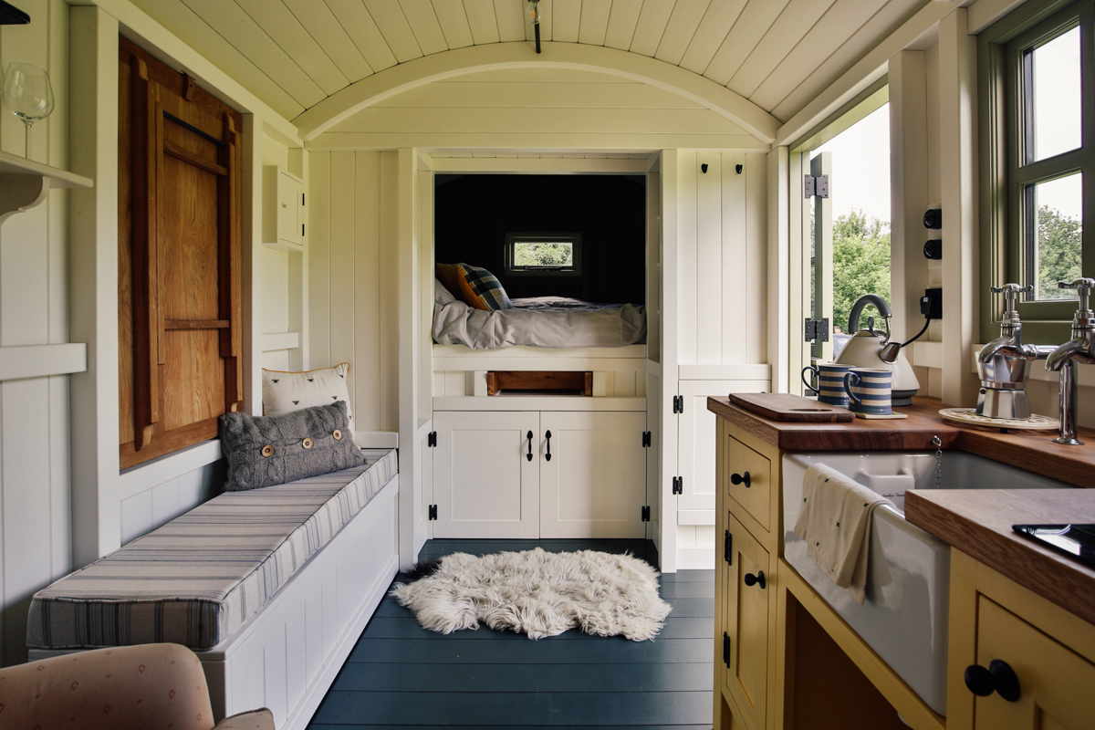 Shepherds Hut as a guest room
