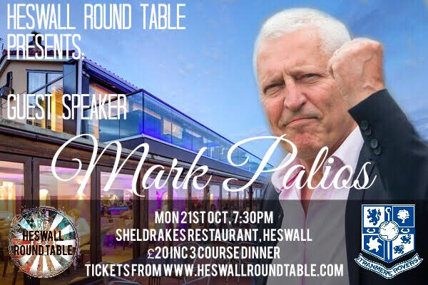 Mark Palios is our Charter Night Guest Speaker - Please click the image to visit the Facebook event and register your interest as places will be strictly limited. You can also contact us via email on heswallrt@gmail.com