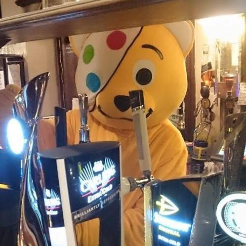 Our Pudsey on a pub crawl round Heswall!