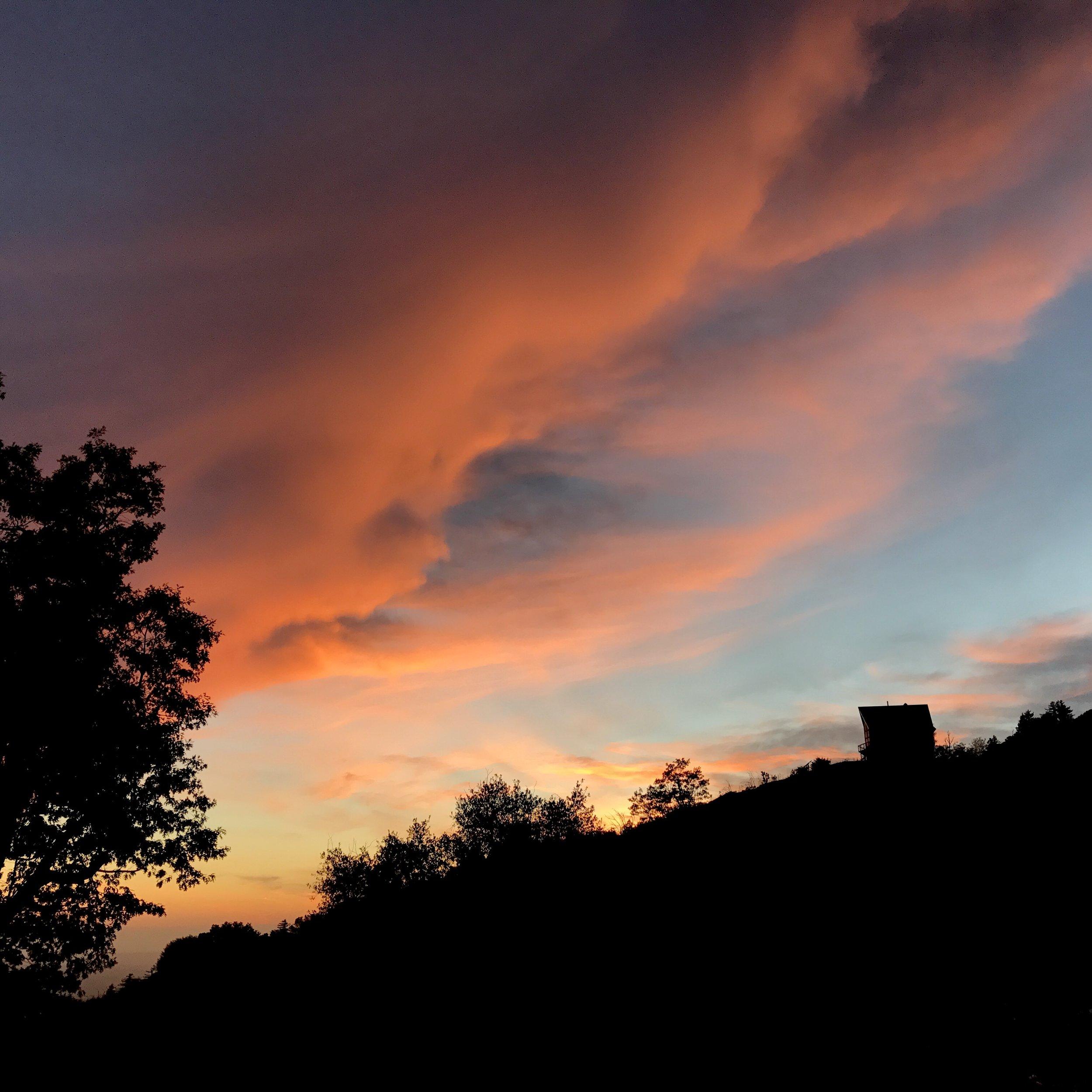 Sunset on Palomar Mountain