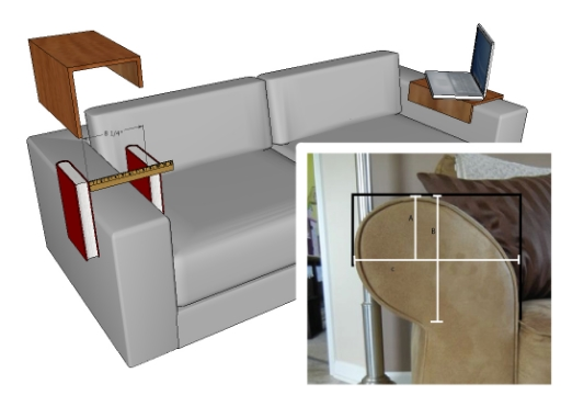 Roll Arm Couch diagram