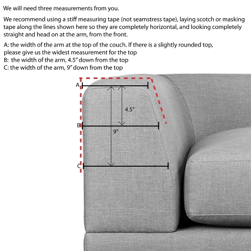 Angled Arm Couch diagram