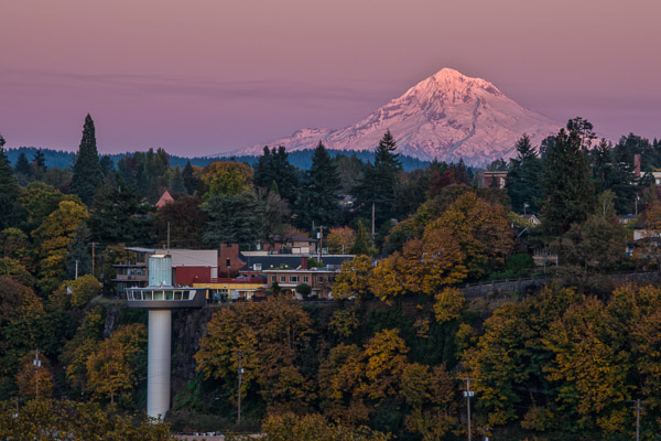 """The Elevator and Mt. Hood at Sunset"" - Fall 2013"