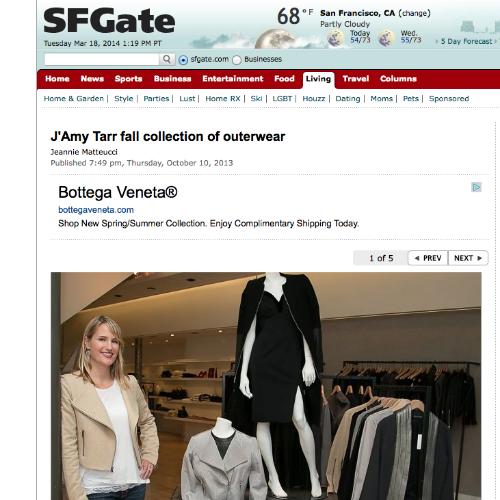 SF Gate  J'Amy Tarr Designs   October 2013