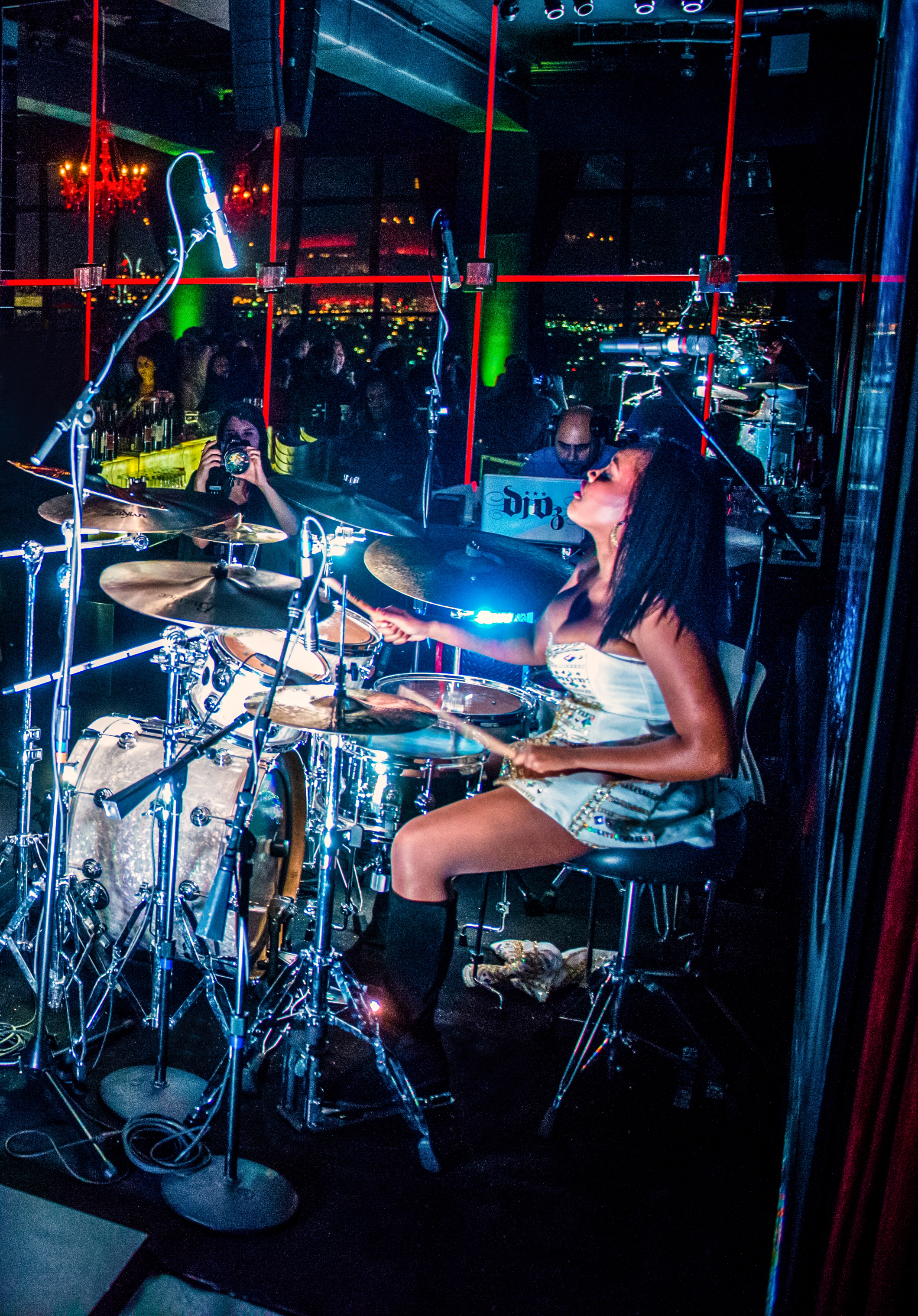 Recording artist, Glorious is a pop singer, livetronica drummer, music producer, songwriter and dynamic entertainer.