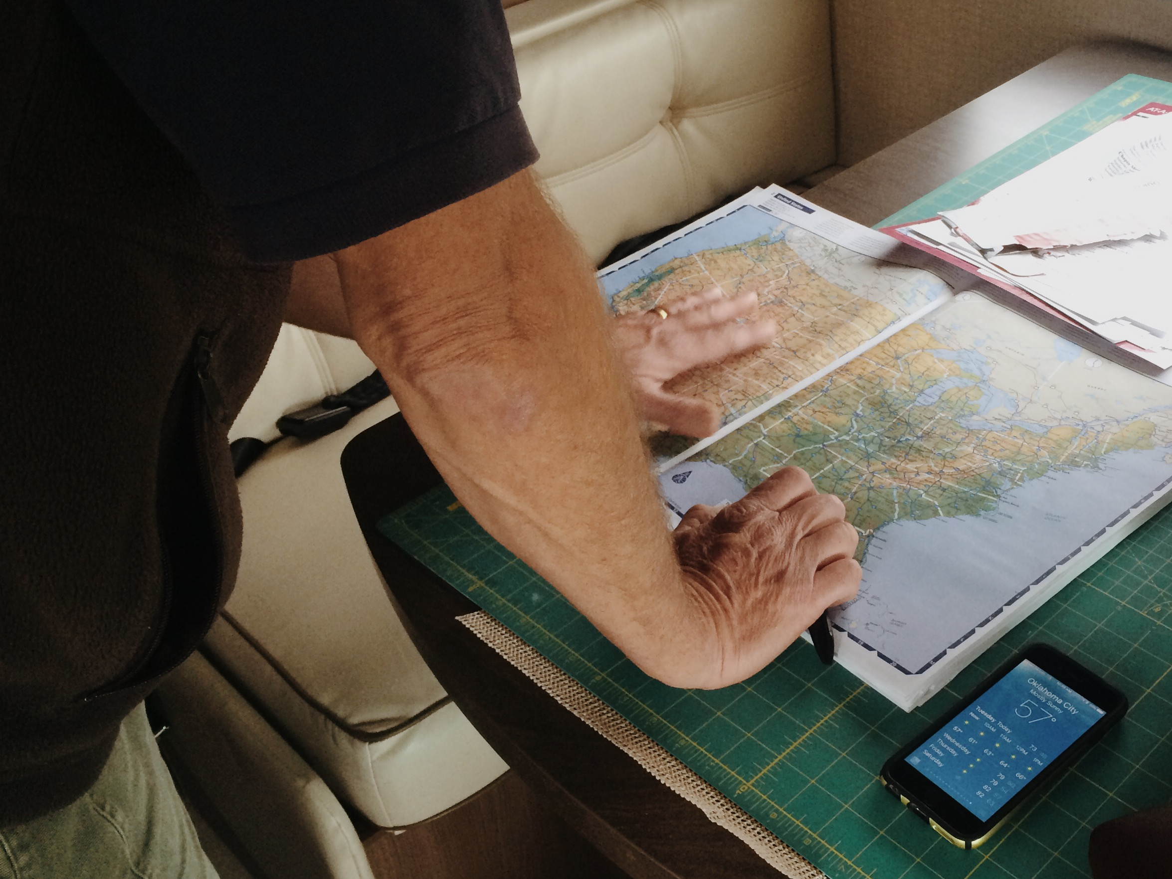 Mark & his old-school maps