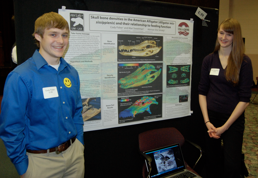 Cody Fisher and Mari Sweetman present the drama of alligator feeding function.