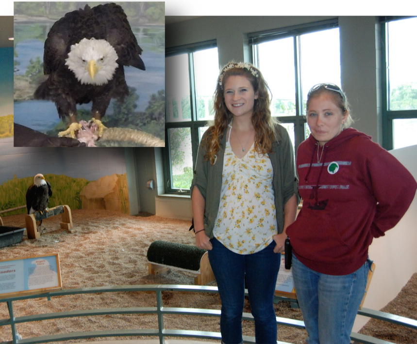 Kari Mosbacher and Christina Burkhart, after successul filming in cooperation with the National Eagle Center